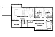 Ranch Style House Plan - 2 Beds 2.5 Baths 1568 Sq/Ft Plan #928-5 Floor Plan - Lower Floor