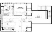 Cottage Style House Plan - 1 Beds 1 Baths 600 Sq/Ft Plan #917-10 Floor Plan - Upper Floor