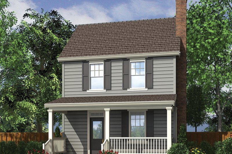 Farmhouse Exterior - Front Elevation Plan #48-977