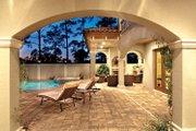 Mediterranean Style House Plan - 4 Beds 5 Baths 3777 Sq/Ft Plan #930-21 Exterior - Outdoor Living