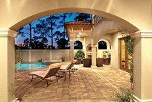 Mediterranean Exterior - Outdoor Living Plan #930-21