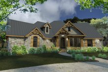 Architectural House Design - Lodge craftsman house by David Wiggins - 2900 sft with great indoor and outdoor living Houseplans #120-172