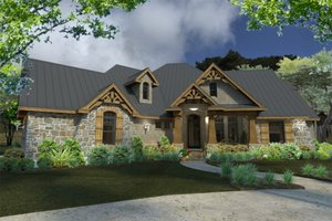 Lodge craftsman house by David Wiggins - 2900 sft with great indoor and outdoor living Houseplans #120-172