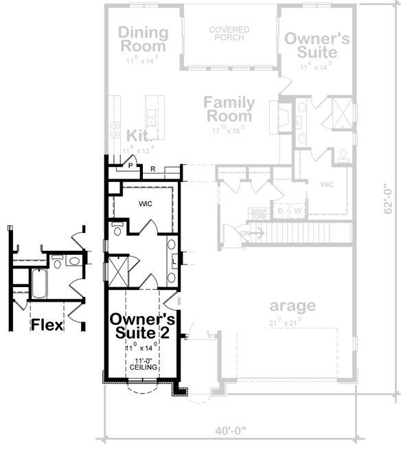 House Plan Design - European Floor Plan - Other Floor Plan #20-2409