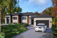 Modern Exterior - Front Elevation Plan #23-2640