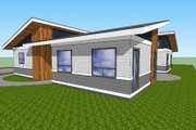 Modern Style House Plan - 2 Beds 1 Baths 1232 Sq/Ft Plan #518-8 Photo