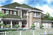 Classical Exterior - Front Elevation Plan #930-288