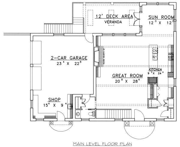 Floor Plan - Main Floor Plan Plan #117-570