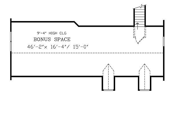 Farmhouse Floor Plan - Upper Floor Plan Plan #456-6