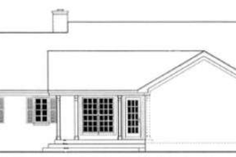 Country Exterior - Rear Elevation Plan #406-230 - Houseplans.com