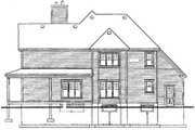 Country Style House Plan - 3 Beds 2.5 Baths 2668 Sq/Ft Plan #23-2060 Exterior - Rear Elevation