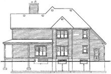 Country Exterior - Rear Elevation Plan #23-2060