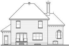Architectural House Design - European Exterior - Rear Elevation Plan #23-810
