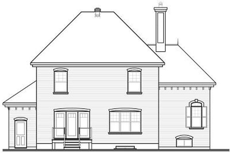 European Exterior - Rear Elevation Plan #23-810 - Houseplans.com