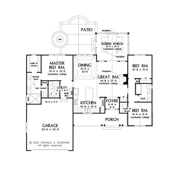 House Design - Craftsman Floor Plan - Main Floor Plan #929-1127