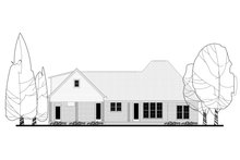 European Exterior - Rear Elevation Plan #430-144