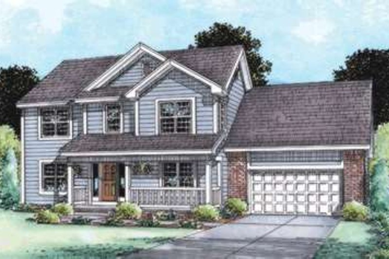 Home Plan - Traditional Exterior - Front Elevation Plan #20-1798