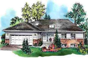 Ranch Exterior - Front Elevation Plan #18-9210