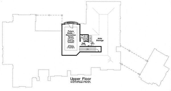 European Floor Plan - Upper Floor Plan Plan #310-1280