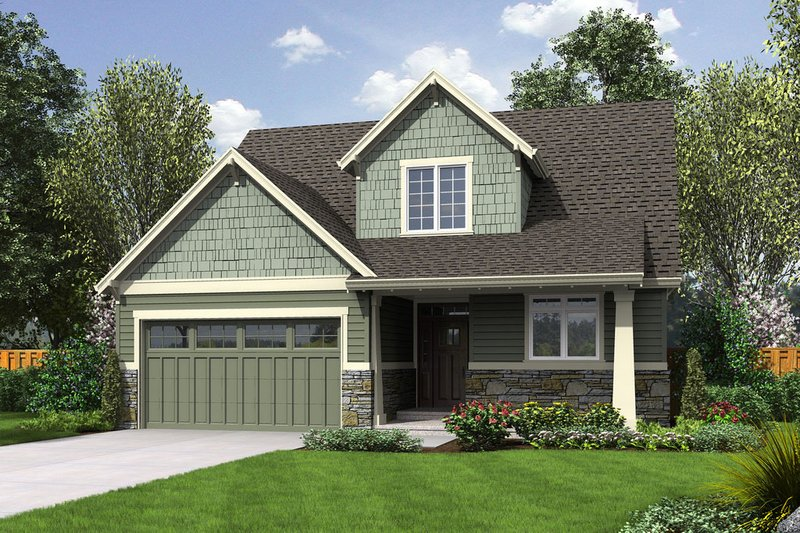 Craftsman Style House Plan - 3 Beds 2.5 Baths 1986 Sq/Ft Plan #48-643 Exterior - Front Elevation