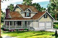 Home Plan - Farmhouse Exterior - Front Elevation Plan #124-171