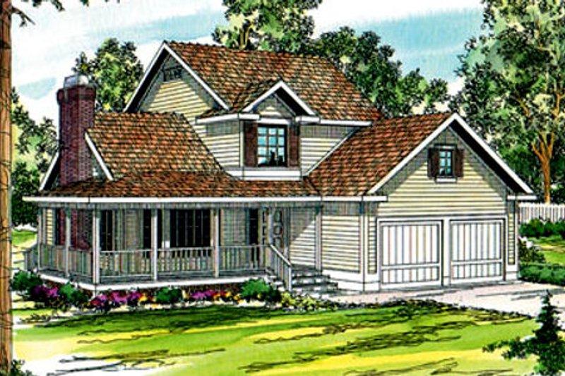 Dream House Plan - Farmhouse Exterior - Front Elevation Plan #124-171