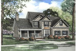 Traditional Exterior - Front Elevation Plan #17-2073