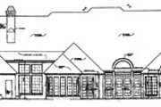 European Style House Plan - 4 Beds 4.5 Baths 4615 Sq/Ft Plan #310-635 Exterior - Rear Elevation