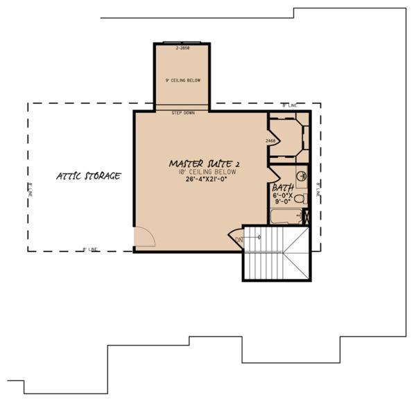 Traditional Floor Plan - Upper Floor Plan Plan #923-64