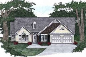 House Plan Design - Traditional Exterior - Front Elevation Plan #129-130