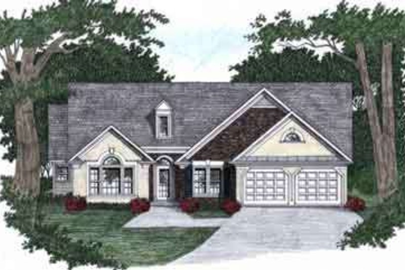 Architectural House Design - Traditional Exterior - Front Elevation Plan #129-130
