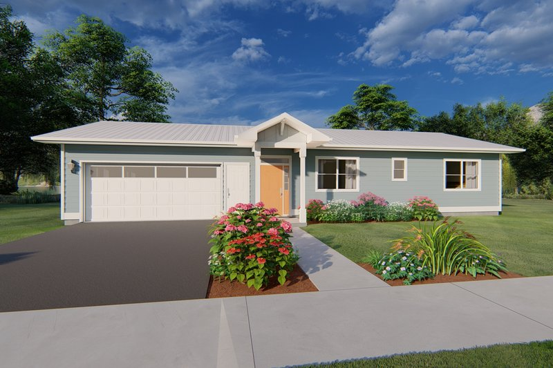 Architectural House Design - Ranch Exterior - Front Elevation Plan #126-209