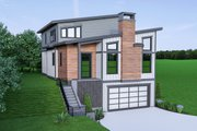 Contemporary Style House Plan - 3 Beds 2.5 Baths 2586 Sq/Ft Plan #1070-45 Exterior - Front Elevation