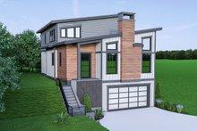 House Plan Design - Contemporary Exterior - Front Elevation Plan #1070-45