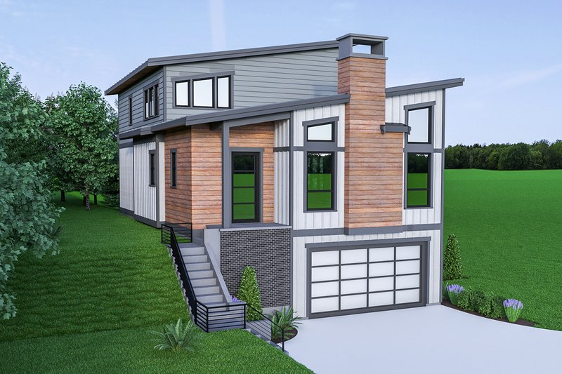 Contemporary Exterior - Front Elevation Plan #1070-45