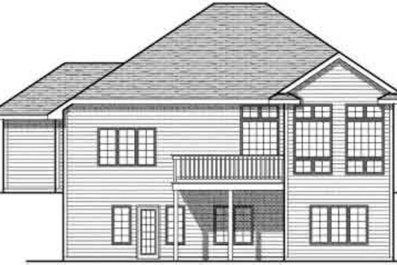 European Exterior - Rear Elevation Plan #70-692 - Houseplans.com