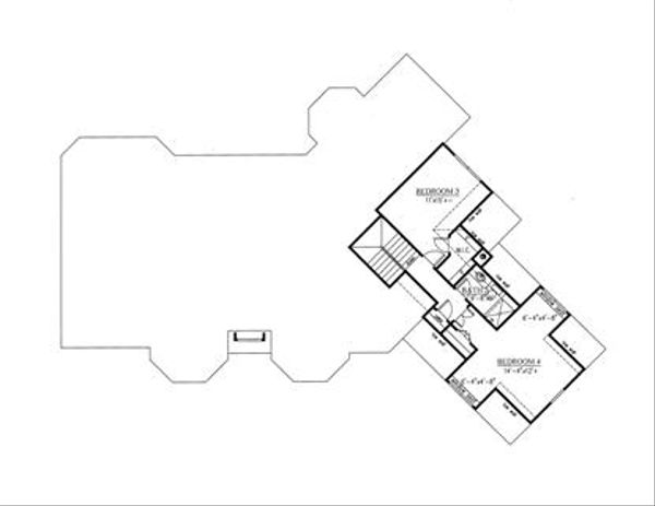 Traditional Floor Plan - Upper Floor Plan Plan #437-53