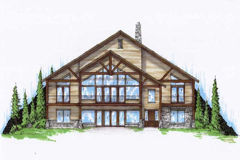 Bungalow Exterior - Front Elevation Plan #5-377