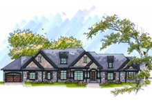 European Exterior - Front Elevation Plan #70-1011