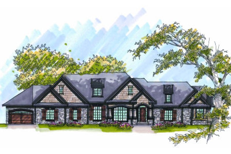 European Exterior - Front Elevation Plan #70-1011 - Houseplans.com