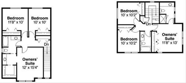 Floor Plan - Upper Floor Plan Plan #124-815