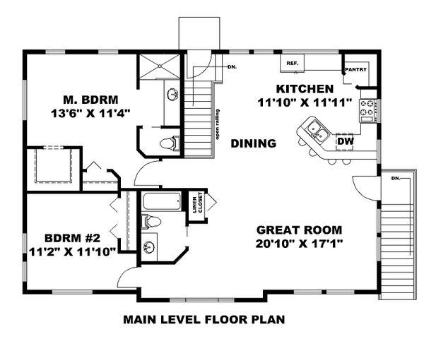 House Plan Design - Contemporary Floor Plan - Main Floor Plan #117-905