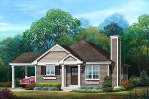 Bungalow Exterior - Front Elevation Plan #22-583