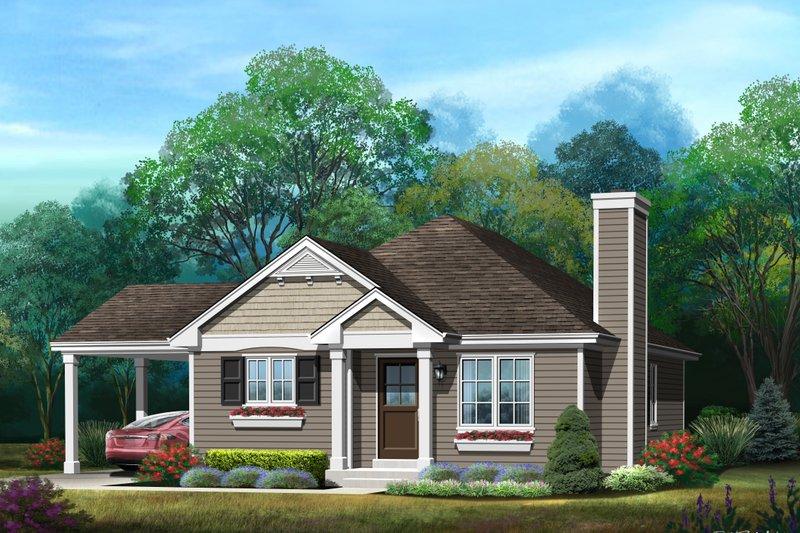 House Plan Design - Bungalow Exterior - Front Elevation Plan #22-583