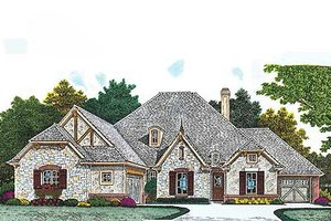 European Exterior - Front Elevation Plan #310-966