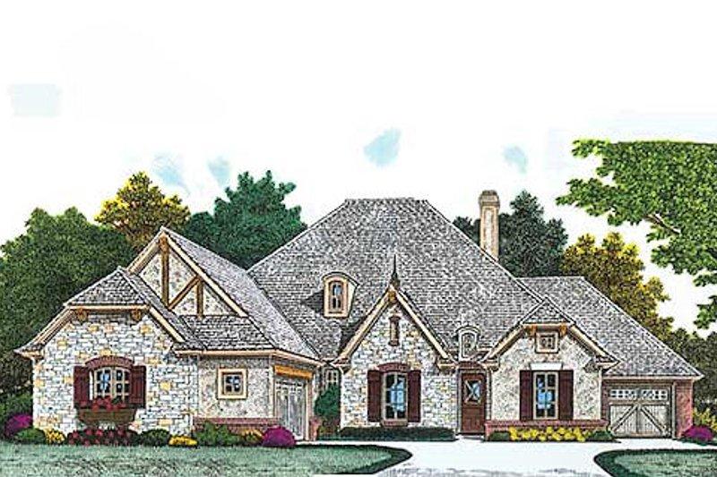 Dream House Plan - European Exterior - Front Elevation Plan #310-966