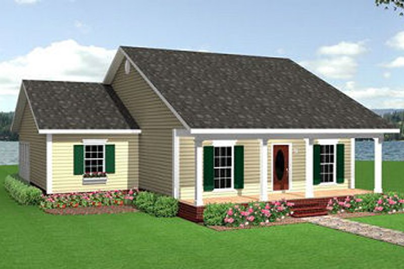 Home Plan - Traditional Exterior - Front Elevation Plan #44-150
