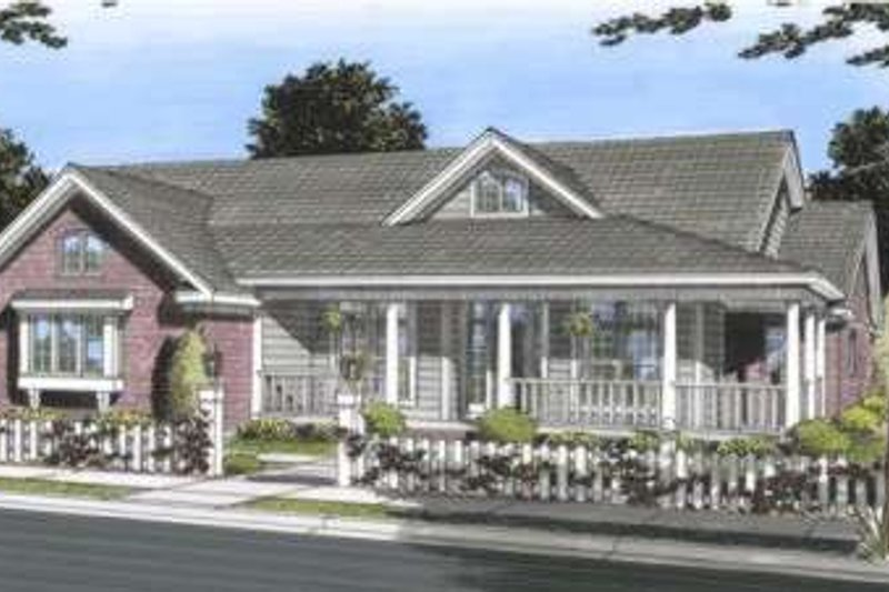 Traditional Style House Plan - 3 Beds 2 Baths 2354 Sq/Ft Plan #20-1832 Exterior - Front Elevation