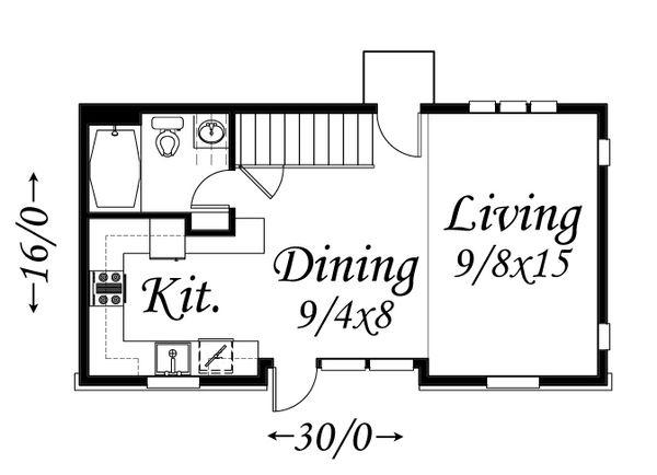 Traditional Floor Plan - Main Floor Plan Plan #509-16