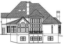 Dream House Plan - European Exterior - Rear Elevation Plan #119-129